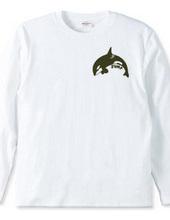 Killer whales jumping small logo