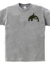 Killer whales jumping small logo