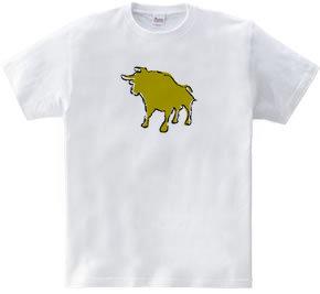 Zooシャツ 雄牛、強し  #2