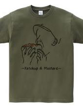 Ketchup and mustard
