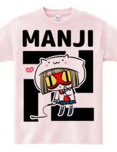 猫ずきんちゃんの恋する卍Tシャツ