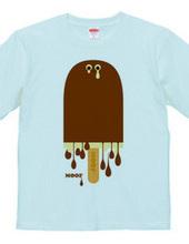 溶けていくチョコアイス