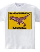 IN CASE OF EMERGENCY    RUN LIKE HELL!