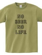 NO BEER, NO LIFE. ノービアーノーライフ ビールロゴ