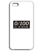 0か100か[all or nothing] ボックスロゴ 黒色