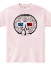 カラフトフクロウ3Dメガネ