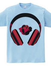 Headphone with ROSE RED