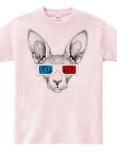 スフィンクス(ネコ)3Dメガネ