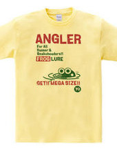 ANGLER FROG フロッグルアーTシャツ1-ビンテージ風