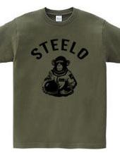 スペースモンキー STEELO 猿 宇宙へ アーチロゴ
