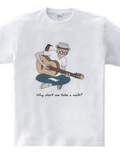 アコースティックギターと野鳥(カワセミ)