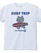 SURF TRIP 〜ネコフレンズ〜ビンテージ風かすれ柄