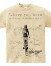 自転車散歩女子
