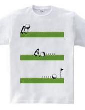 休日ペンギン:ゴルフ編