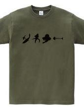 サカナ- 釣り人Tシャツ