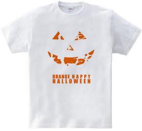 カボチャじゃないよミカンだよ! ハロウィーンTシャツ シンプルロゴ