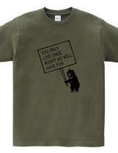 クマ 人生は一度だけ 楽しまなくちゃ 熊 動物メッセージイラスト