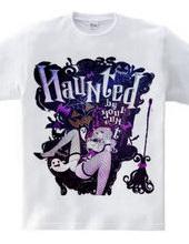 HAUNTED ハロウィン魔女とお化けの黒椅子