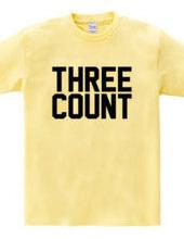 THREE COUNT 3カウント プロレス シンプルロゴ