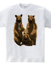 bear and necktie and family