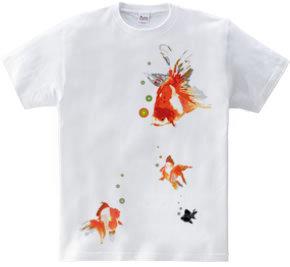 浮遊する金魚