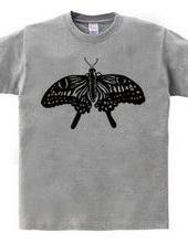 アゲハ蝶(白黒)