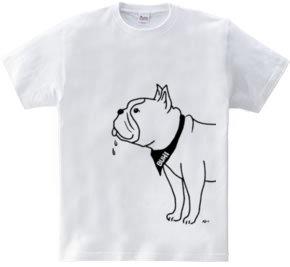 フレンチブルドッグ しっぽをふる 犬 動物イラスト大