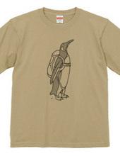 ペンギン スカイダイビング 動物イラストTシャツ