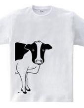 牛が見てる ウシ 動物イラスト 大