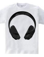 マットブラックヘッドフォン