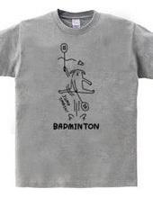 バドミントン イヌのジャンプスマッシュ