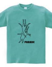 ウサギのパレード