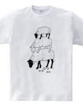 ヒツジ -Summer Fashion- 3 動物イラスト