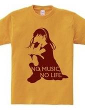 NO MUSIC, NO LIFE. red