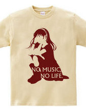 NO MUSIC, NO LIFE. red