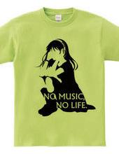 NO MUSIC, NO LIFE. black