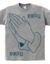 PRAY HANDS BLUE