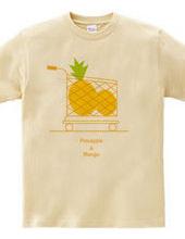 パイナップルとマンゴー