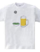 ビールと枝豆とミラーボール
