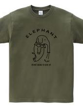 ゾウトブ Elephant 象 動物イラストカレッジロゴ
