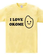 お米大好き  I LOVE OKOME 黒