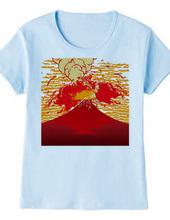 Mount Fuji eruption