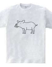 子ブタ ラブレター 豚 動物イラスト