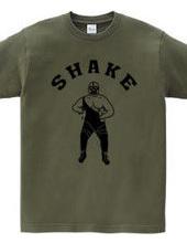 Shake プロレスラーマスクマン イラストアーチロゴ