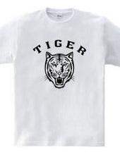 TIGER タイガー 虎 動物イラストカレッジロゴ