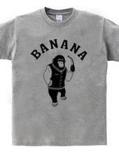 BANANA バナナ チンパンジー 動物イラストカレッジロゴ
