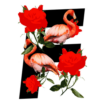 N L Y F ROSE AND BIRDS Fversion