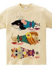動物メガホン…魚・猫・女子(リメイク)