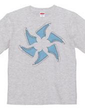 Light blue sneaker windmill