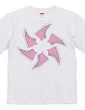Light pink sneaker windmill